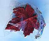 """Елочное украшение """"Кленовый лист цветной с блестками"""" (упаковка 10 шт), фото 5"""