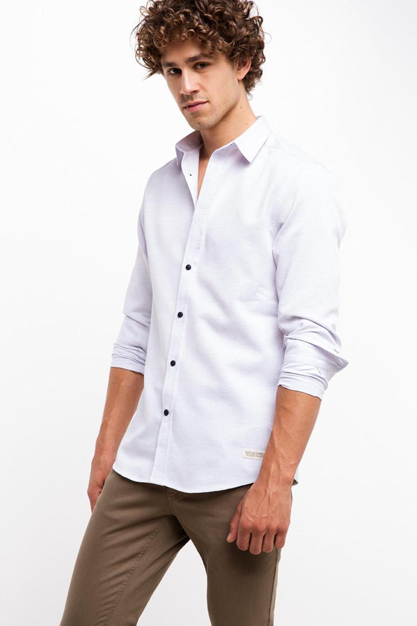 Белая мужская рубашка De Facto/Де Факто