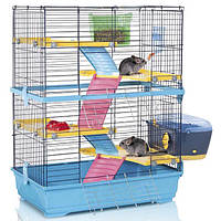 Клетка Imac Double 80 для шиншилл и кроликов, 80х48,5х104 см