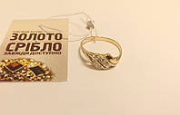 Золотое кольцо с цирконом, женское. Вес 2,01 грамм. Размер 16,5.