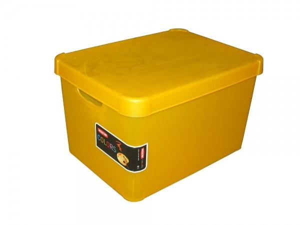 Ящик для хранения 23л Deco`s STOCKHOLM оранжевый