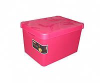 Ящик для хранения 23л Deco`s STOCKHOLM розовый