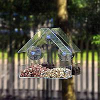 Honana HG-BF1 Gradening Transparent Bird Feeder Качество Акриловый декоративный фидер для птиц