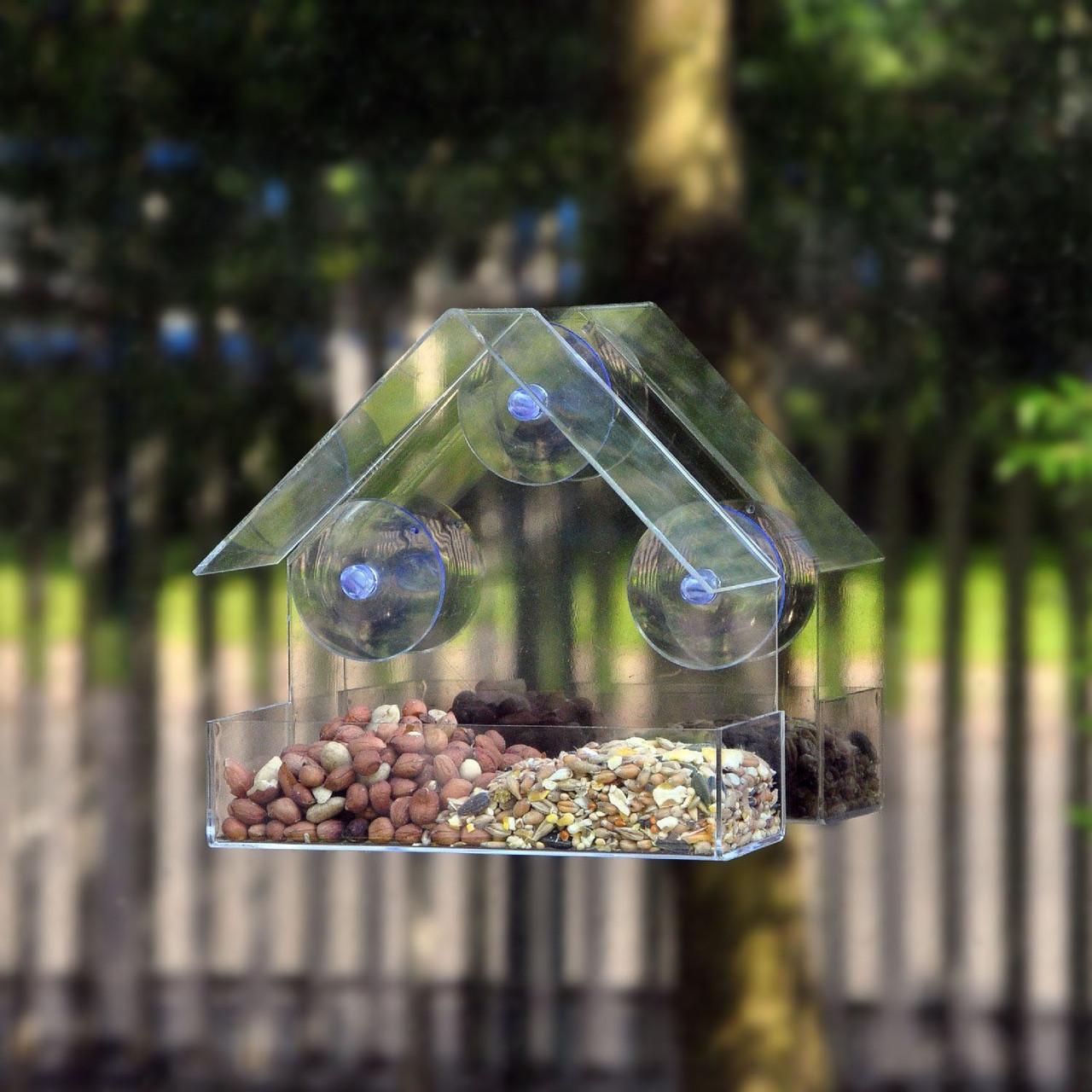 Honana HG-BF1 Gradening Transparent Bird Feeder Качество Акриловый декоративный фидер для птиц - ➊TopShop ➠ Товары из Китая с бесплатной доставкой в Украину! в Днепре