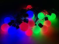 Гирлянда шарики, разноцветные led-лампочки 20шаров 5 м мульти