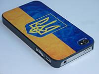 Чехол для iPhone 4 4S с украинским флагом и гербом, фото 1
