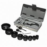 11 штук 19-64mm Отрезная пила для удаления зубов Инструмент Набор Деревообрабатывающий резак Дрель Набор бит