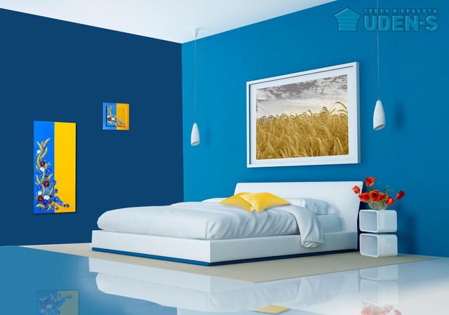 Дизайн-радиатор «Слава Украине» и панно «Слава Украине» в интерьере.