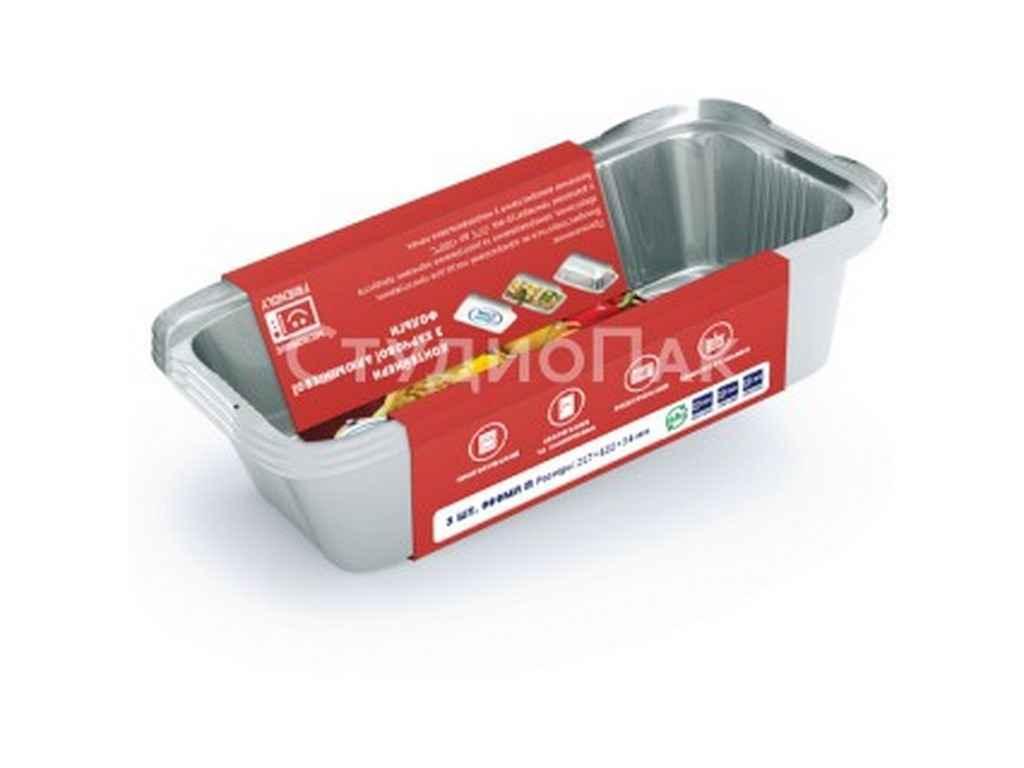 Набор контейнеров с пищевой фольги (3 * 900 мл) с кр. ТМ МАЭСТРО СМАК