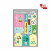 Набор высечек для скрапа, самоклеящихся, Cake delicious 1, картон, 12,8*20 см, ROSA Talant, 9406092