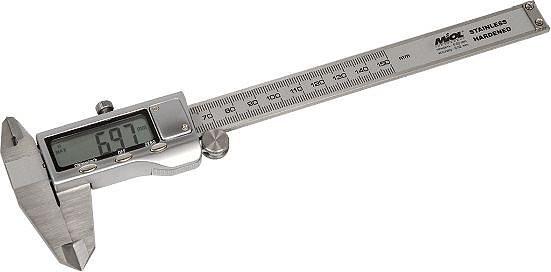 Штангенциркуль с электр.отсчетом 150мм/0,01мм,металл. корпус, PREMIUM Miol 15-241