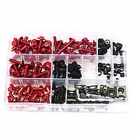 СплавсЧПУмотоциклЗавершающийболт Болт для кузова Болты Набор для Kawasaki Красный