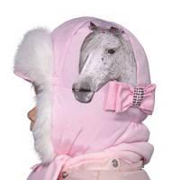 Набор шапка ушанка с шарфом для девочки 2-5 лет