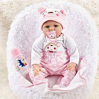 NPK DOLL 55cm Soft Силиконовый Кукла Reborn Baby 22 Игрушка для девочек Новорожденная девочка Baby Birthday Gift