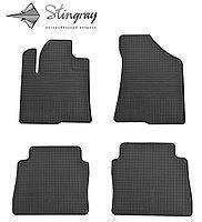 Резиновые коврики Stingray для Hyundai Santa Fe 2006/2010  - комплект 4 шт.