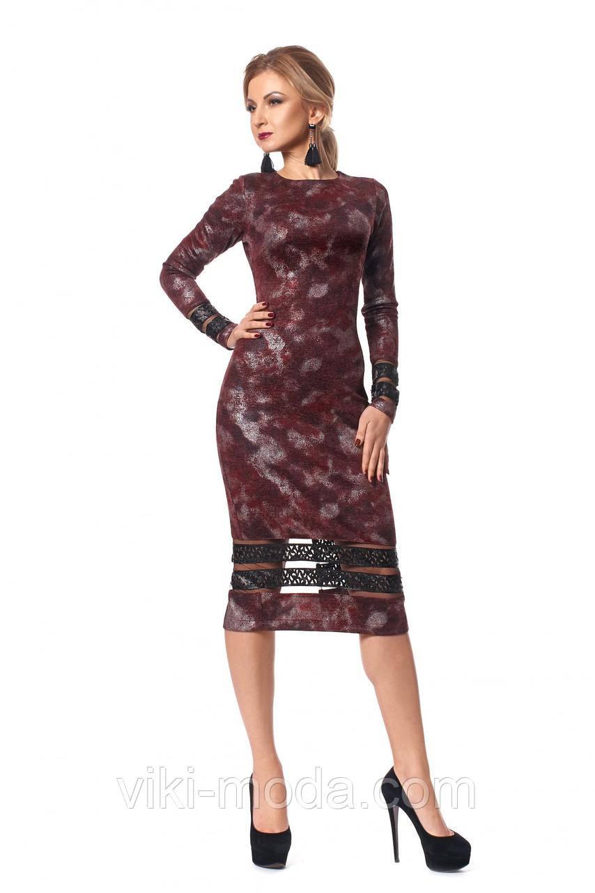Женское платье-футляр с принтом