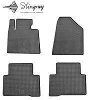 Резиновые коврики Stingray для Hyundai Santa Fe 2013 - комплект 4 шт.