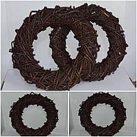 Веночек ручной работы для композиций, лоза, 25 см., 85 гр.