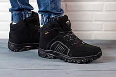 Мужские ботинки на меху черные