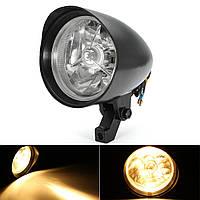 Пуля Tri Bar 4.7inch Headlight для Harley Sportster Dyna Softail Chopper FXST