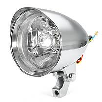 Пуля Tri Bar 4.7inch Headlight для Harley Sportster Dyna Softail Chopper FXST-1TopShop, фото 3