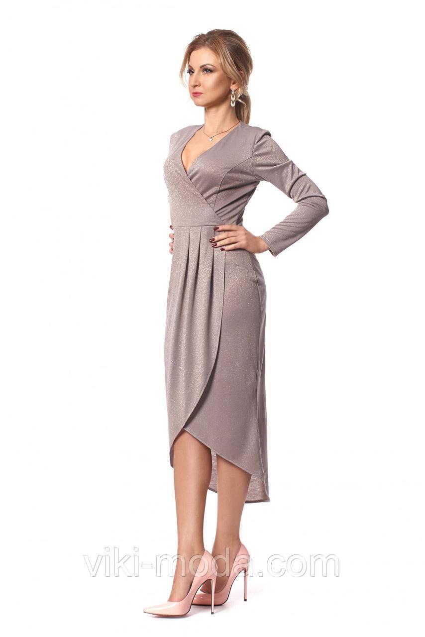 Шикарное платье длины миди