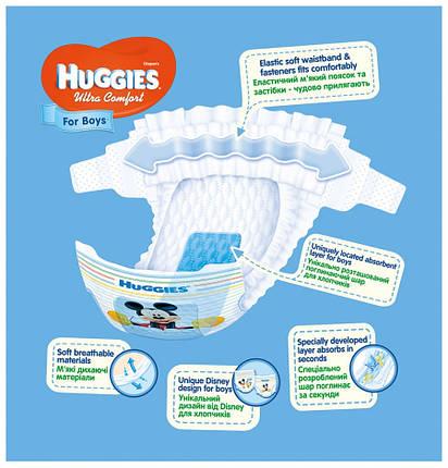 Подгузники Huggies Ultra Comfort для мальчиков 3 (5-9 кг) - 58 шт., фото 2