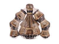 """Керамический набор для вина (7 предметов) Графин + 6 стаканов """"Домик"""""""