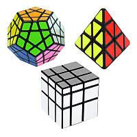 Волшебный Cube Набор из 3-х скоростей Cube Конус Megaminx Серебряное зеркало Волшебный Puzzle