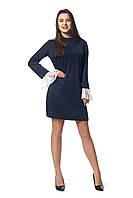 Платье для полных  новинка Венона А1 размеров  от 46 до 56   темно синее