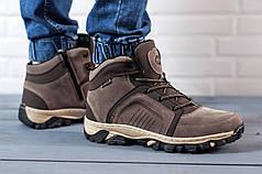 Мужские ботинки Sayota на меху коричневые