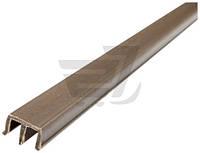 Профиль для стекла Ш-образный высокий 10x20x2500 мм коричневый