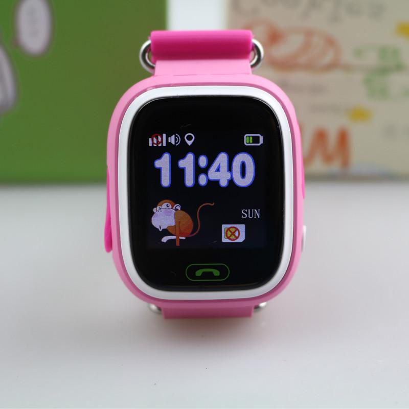 Детские умные часы-телефон с GPS Smart Watch Q90 Розовые