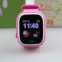 Детские умные часы-телефон с GPS Smart Watch Q90 Розовые, фото 1