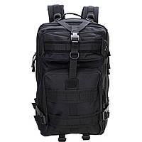 Тактический Штурмовой Военный Рюкзак 35-40л 3 цвета 35.0, Система подвески Molle, Германия, Черный