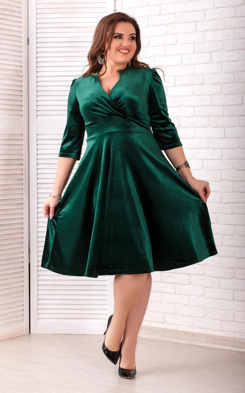 Женское бархатное платье (46-60) 8219