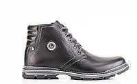 Мужские кожаные зимние ботинки  045 ч 45