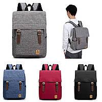 Мужчины Женское Повседневный холст Рюкзак для ноутбука Рюкзак студенческого плеча Сумки