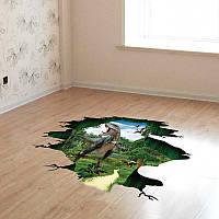 3D динозавр рай юрского мира детский сад стены стикеры ПВХ съемные стерео стикеры 60 * 90 см
