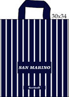 "Пакет з петлевий ручкою 30х34см. 25шт. Serikoff ""Сан-Марино"""