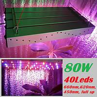 Светодиодный светильник для растений, 80 Вт, мультиспектр