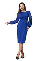Платье для полных  новинка Дорианна А4 размеров  от 46 до 56 электрик
