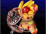 """Конфетница стеклянная Самоцветы с крышкой 5101 """"RISTAL"""", фото 2"""