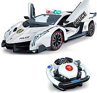 Спортивная Полицейская машина Ламборгини на управлении  Police Lamborghini R/C remote control car из США