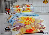 Сатиновое постельное белье евро 3D ELWAY S323