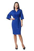 Платье для полных  новинка Теона А1 размеров  от 46 до 56  электрик