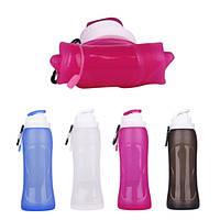 500MLTravelCollapsibleСиликоновыйСпортивнаяскладная бутылка для воды для На открытом воздухе Кемпинг Пешие прогулки