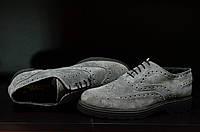 Туфли броги Vera Pelle. Италия. Оригинал. Натуральная замша. 42 р., фото 1