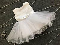 Белое платье детское.