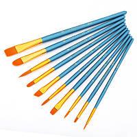 KCASA 10Pcs/Set различной формы Акварельная гуашьная краска Кисти Nylon Щетка Декоративная панель для дома Инструмент